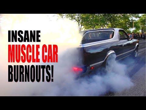 Muscle Car Burnout Party Gone Crazy! VANTAA CRUISING 7/2017