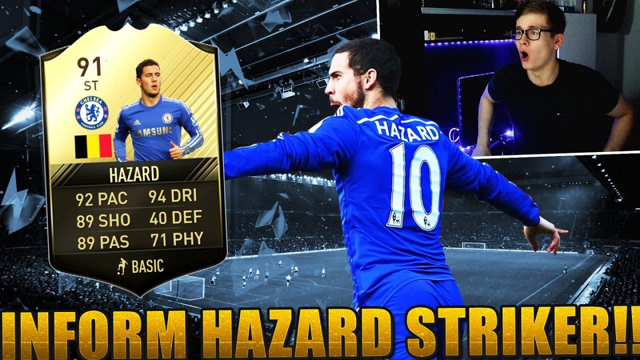 b48aac49634 FIFA 17  OMG 91 INFORM EDEN HAZARD STRIKER! 😱 (DEUTSCH) - ULTIMATE TEAM - BEAST  FUT DRAFT! - YouTube