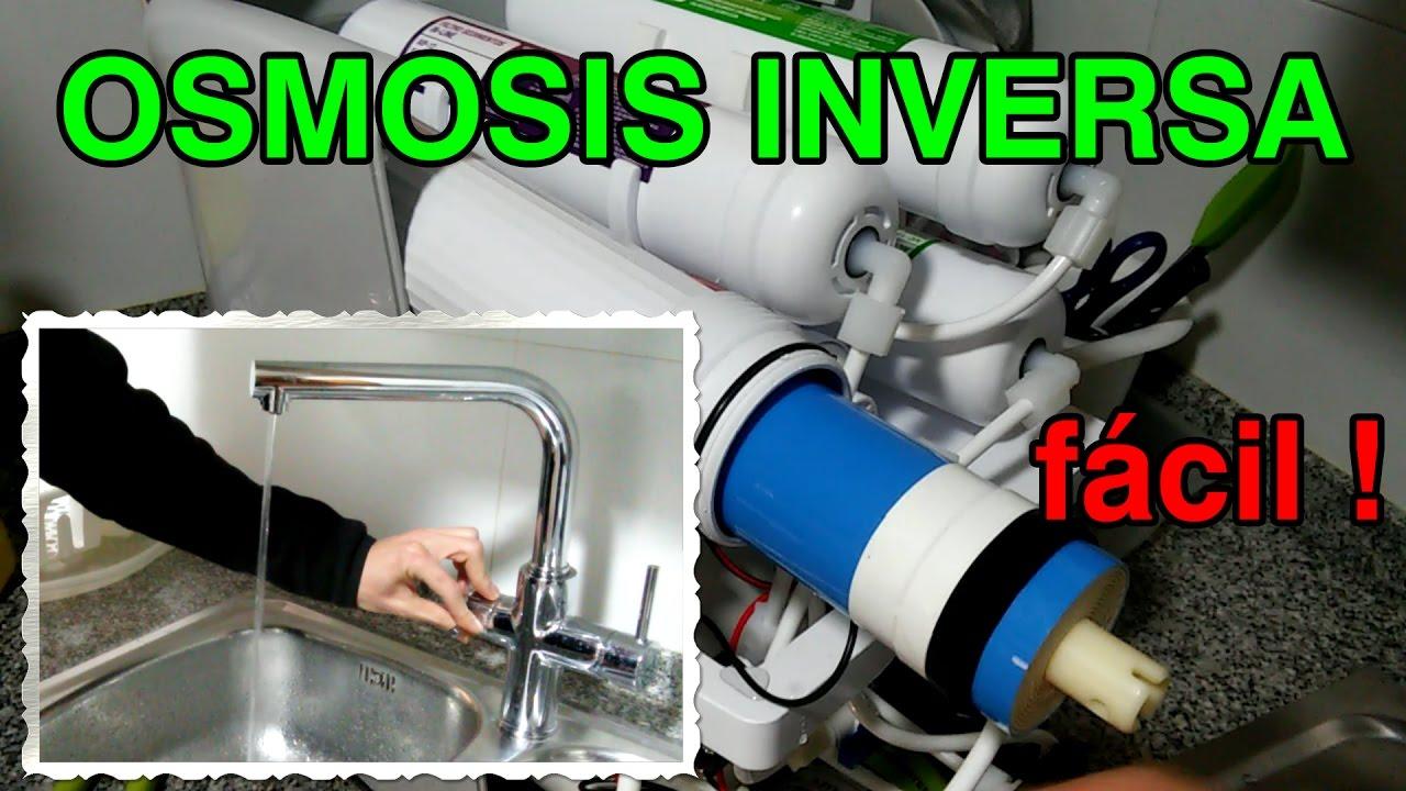 Instalaci n de un equipo de osmosis inversa en casa youtube for Equipo de osmosis inversa
