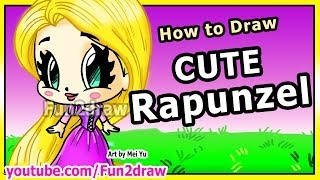 How to Draw Disney Princesses & Characters - Rapunzel from Tangled - Fun2draw Art Drawing Lessons(Draw & COLOR at your own pace with Fun2draw APPs! Apple: https://itunes.apple.com/artist/mei-yu/id674269351?mt=8 Android: ..., 2014-06-05T16:30:01.000Z)