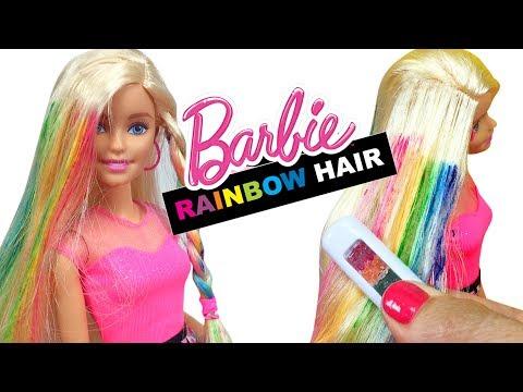 Barbie Oyuncak Saç Yapma Seti ile Yıpranmış Saçlara Bakım | Evcilik TV