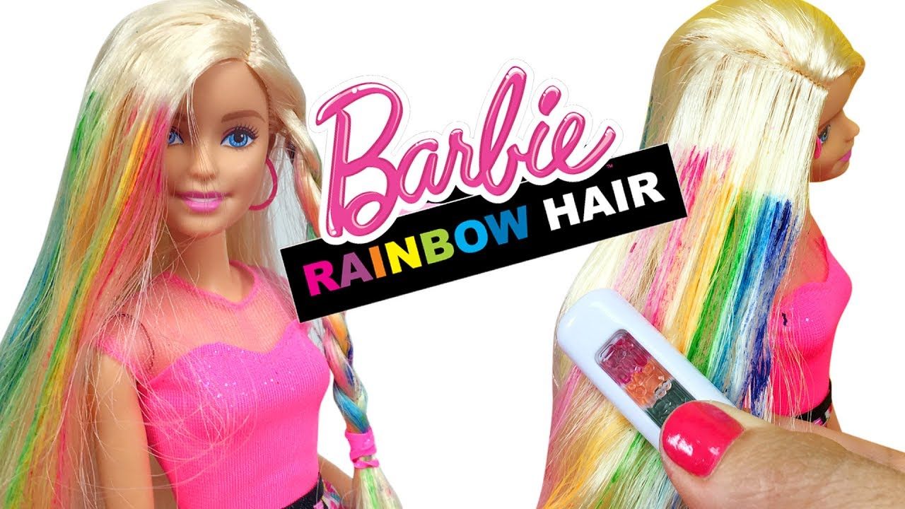 Barbie Oyuncak Sac Yapma Seti Ile Yipranmis Saclara Bakim