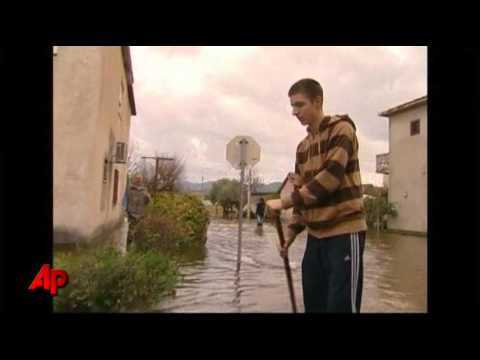 Raw Video: Balkans See Worst Floods in a Century