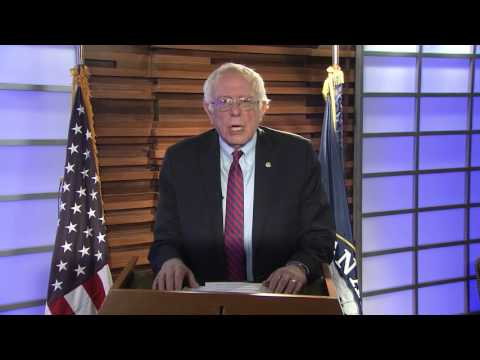 U.S. Senator Bernie Sanders (VT) addresses the 35th annual NOFA-VT Winter Conference