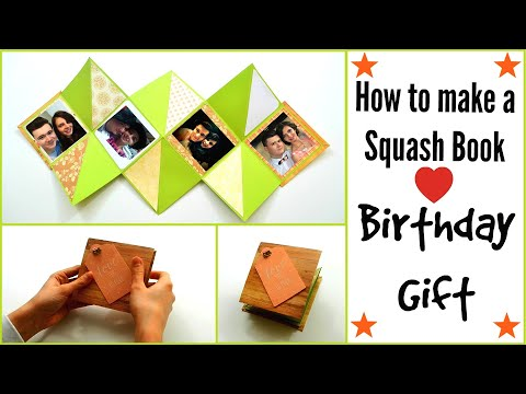 How to make a Squash Card for Valentines | Exploding Card |  Squash Book Tutorial | DIY Paper Crafts