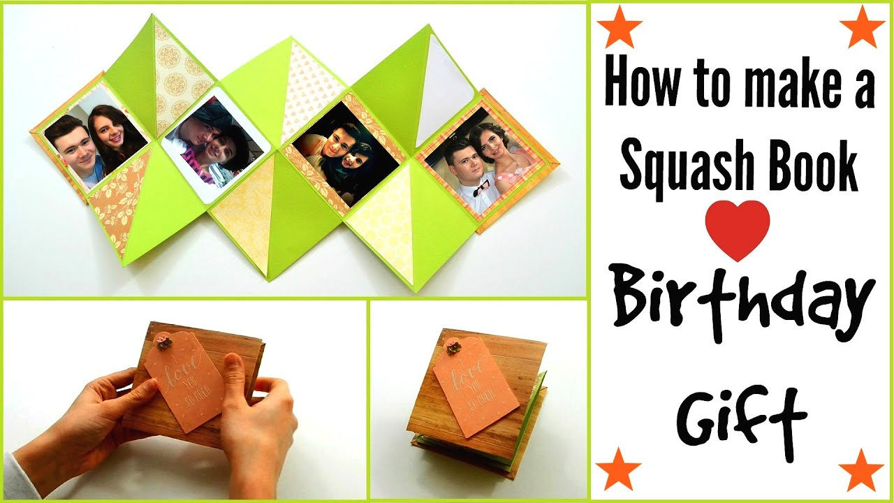 DIY Crafts How to make a Squash Card Squash Book Greeting Paper