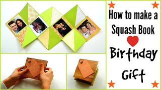 How to make a Squash Card ( Squash Book ) - DIY Paper Crafts - Scrapbooking - Birthday Gift Ideas