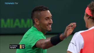 Nick Kyrgios vs Alexander Zverev: 2017 Best Moments