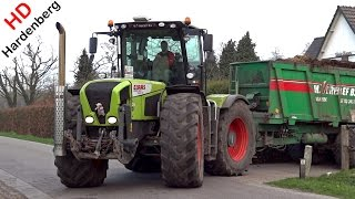 Claas Xerion 3300 TRAC VC + Claas Axion 820 Cmatic | Spreading manure | Uddel | NL | 2015.