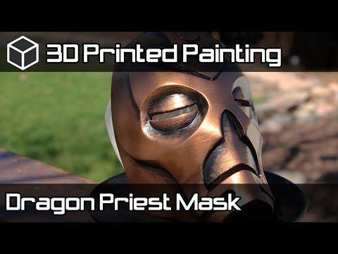 Skyrim Dragon Priest Mask - Painting 3D Printed Mask - Fast Version