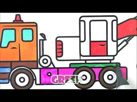 Ekskavator Boyama Boyama Sayfasi Nasil Cizilir Renkleri