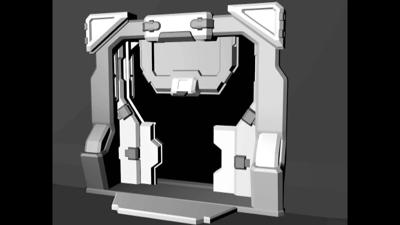 Sci Fi Door Opening System Animation Youtube