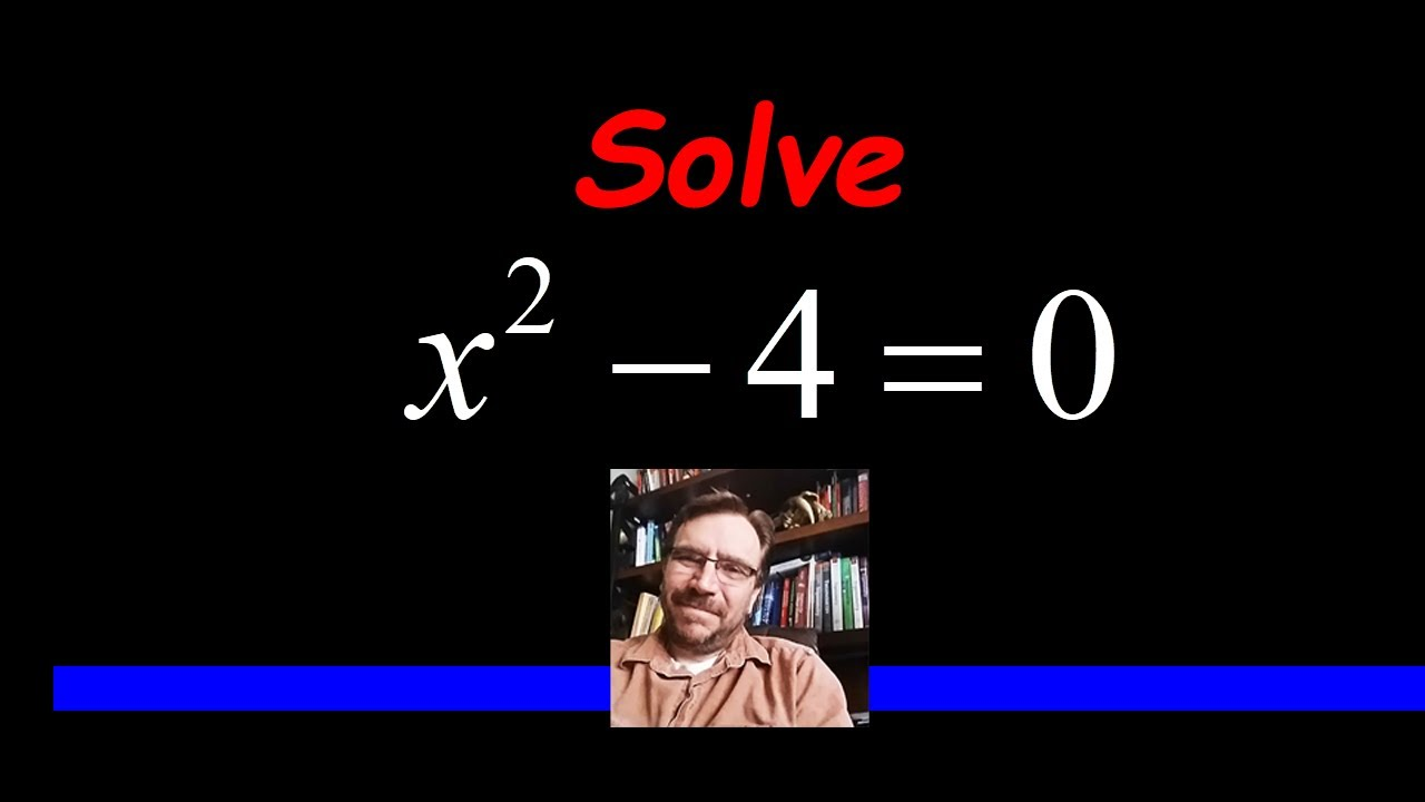 How to Solve by Factoring - DIFFERENCE OF SQUARES - YouTube