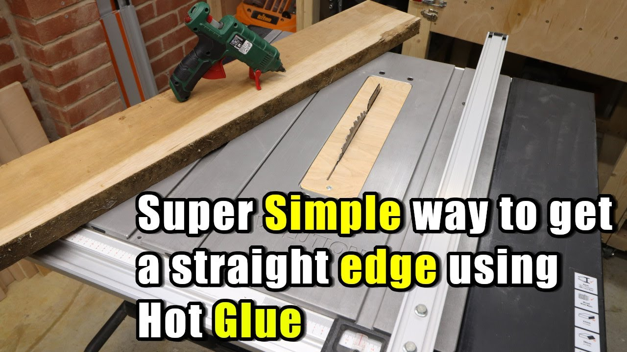 Super Simple way to get a straight edge on a board with Hot Glue - tip for beginners