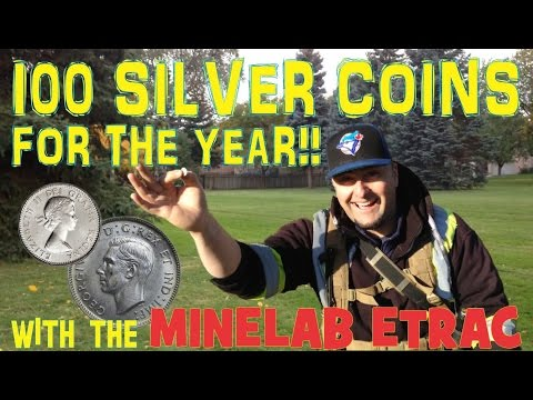 100 Silver Coins For The Year! Silver Ring, And A Live Silver Dig - Minelab Etrac