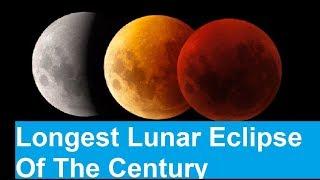 On Friday, July 27, the moon will transform into a reddish orange c...