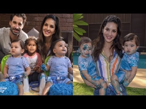 Sunny Leone Celebrates Twins Asher And Noah's First Birthday