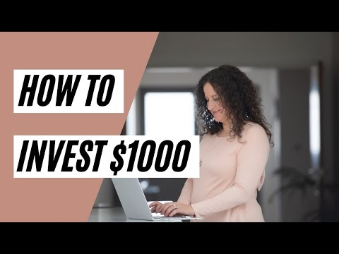 HOW TO INVEST $1000 on the Stock Market (Investing in Stocks)