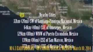 M 5.9 EARTHQUAKE - OFFSHORE OAXACA, MEXICO  March 10, 2014