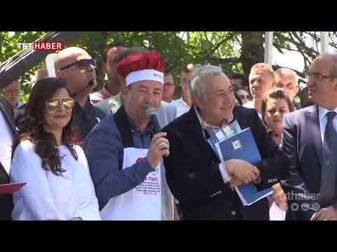 Edirne'de 2 tonluk dev ciğer tavasıyla rekor denemesi