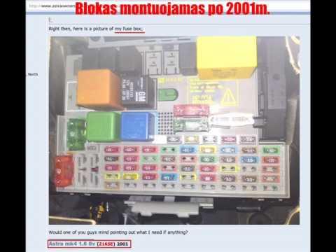 Fuse Diagram For 2005 Bmw X5 Saugikliai Rėlės Astra G Youtube