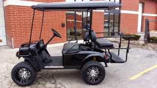 black lifted gas st sport e z go golf cart 13hp kawasaki new black body much more