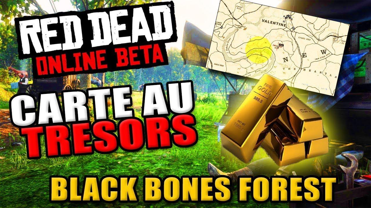 Carte Au Tresor New Bone.Red Dead Online Emplacement Carte Au Tresors Black Bones Forest Soluce