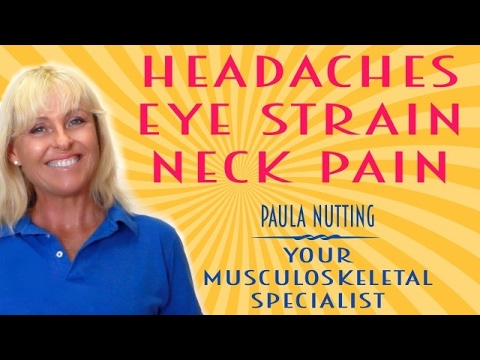 Use your EYE MUSCLES to clear headaches and neck pain.