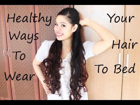 how to style bed hair healthy ways on wearing your hair to sleep to avoid 4602