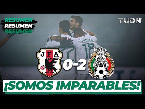 Resumen y goles   Japón 0-2 México   Amistoso 2020   TUDN