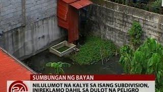 Sumbungan ng Bayan: Nilulumot na kalye sa isang subdivision, inireklamo dahil sa dulot na peligro