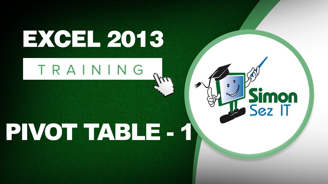 working with pivot tables in excel 2013 part 1 learn excel