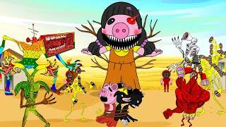 Squid Game Mega Siren Head, Cartoon Dog, Cartoon Cat | Roblox Piggy Animation | GV Studio