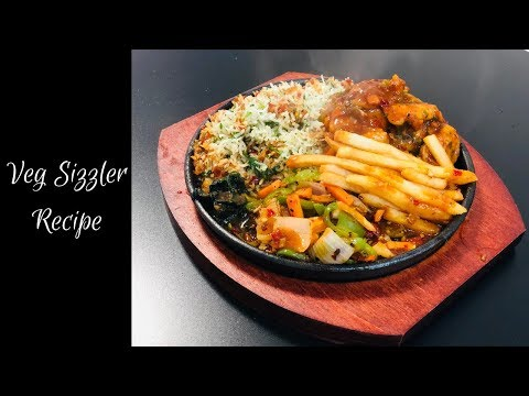 Veg Sizzler Recipe | Baby Corn Chilli Sizzler | Restaurant Style | Kitchen Episodes