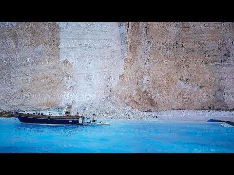 Three injured after rockfall on Greece's Zakynthos Island