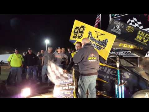 Selinsgrove Speedway 360 Sprint Car Victory Lane 04-16-16