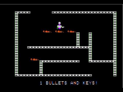 Apple II Game: Castle Wolfenstein (1981 Muse Software) [Long