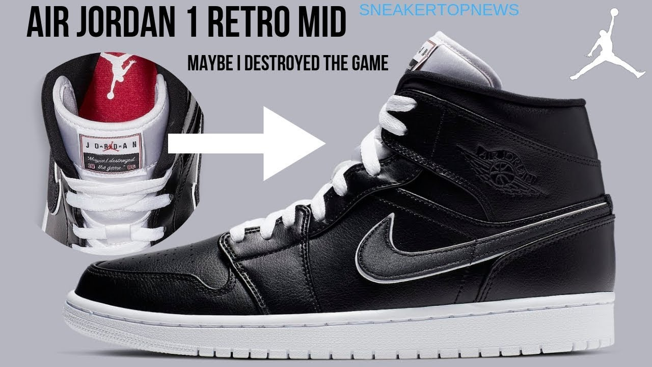 59527d61614 Air Jordan 1 Retro Mid Maybe I Destroyed the Game - YouTube