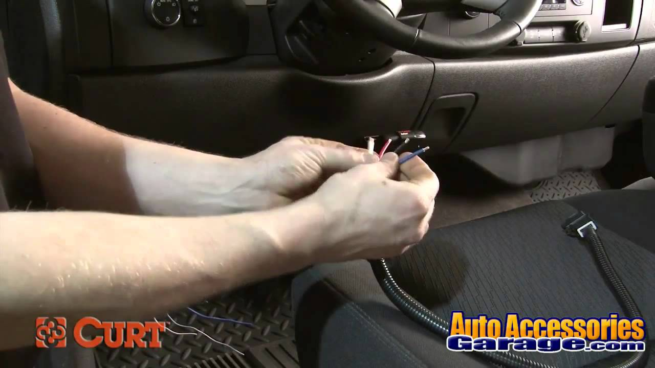 Curt Brake Controller Wiring Harness Installation Youtube A Trailer System