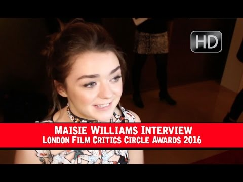 Maisie Williams London Film Critics Circle Interview 2016 (HD) Doctor Who, Game Of Thrones