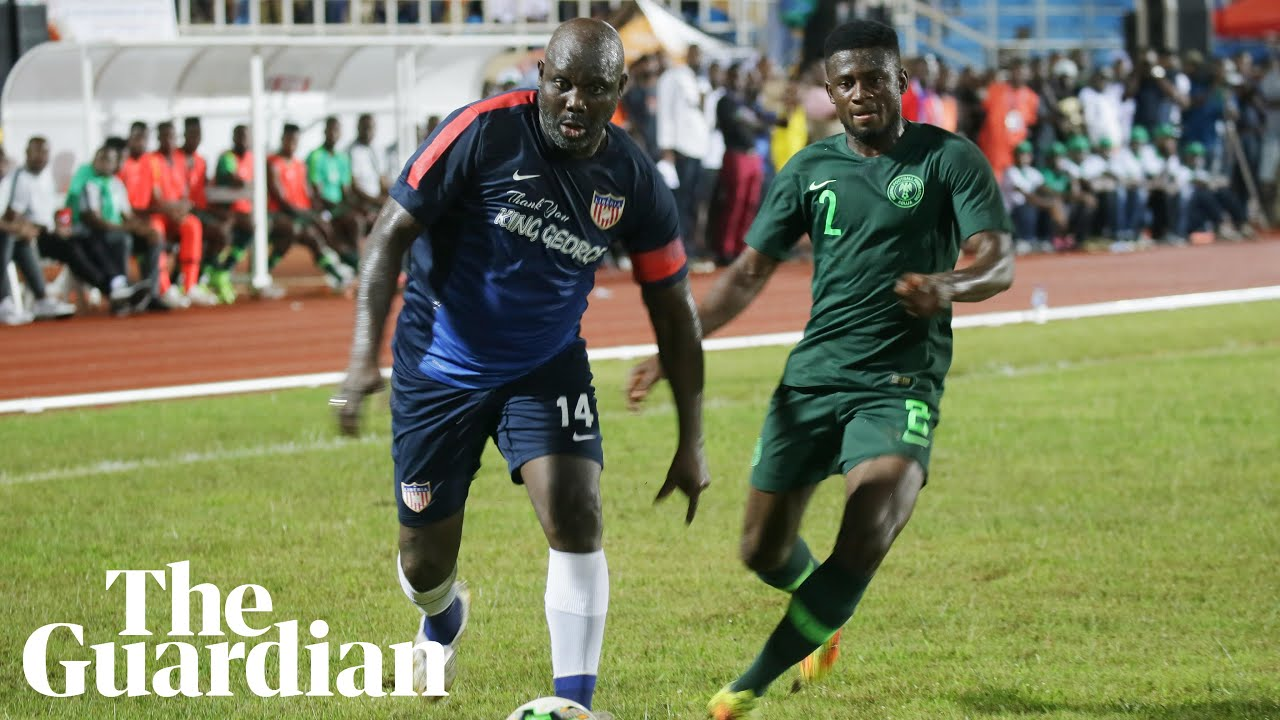 George Weah leads Liberia in politics and on the pitch at the age of 51 –  video