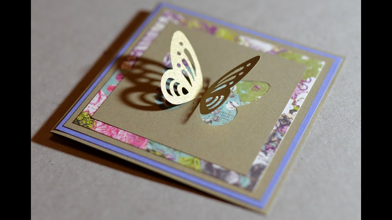 How To Make Spring Greeting Card With Butterfly Step By Step