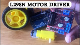 HOW TO CONTROL DC MOTOR USING L298N MOTOR DRIVER AND ARDUINO