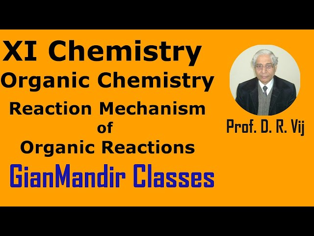 XI Chemistry | Organic Chemistry | Reaction Mechanism of Organic Reactions by Ruchi Ma'am