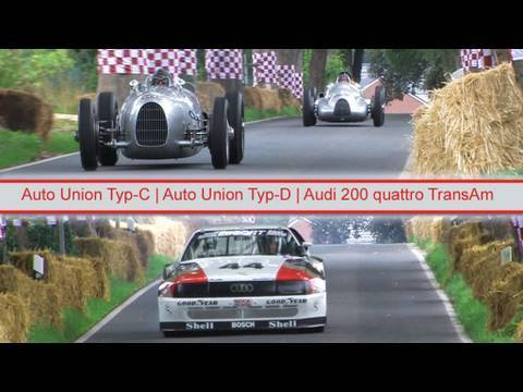 Schloß Dyck Classic Days 2010 - Auto Union Typ-C / typ-D und Audi quattro TransAm