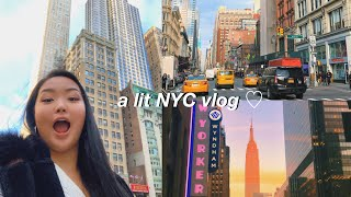 FOLLOW ME AROUND NYC VLOG | shopping, college, & more!