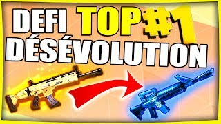 DÉFI : DÉSÉVOLUTION | FORTNITE BATTLE ROYALE Fr