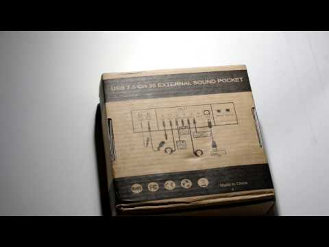 TS-SC01 7.1 Channel External Sound Card from Gearbest.com unboxing and RMAA test