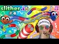 SLITHER.io #4: CRAZY GAME GLITCH after MAJOR FREEZE LAG??  (FGTEEV Duddy is Finding Dory + More)