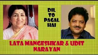 Gambar cover Dil To Pagal Hai  |  Lata Mangeshkar & Udit Narayan  |